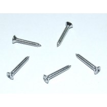 Chrome Countersunk Tapping Screw Set of 5 : #4 X 3/4'' Radiused