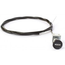 Reproduction Bonnet Release Cable : suit VF/VG (metal bracket, round knob) : 1/2 meter overlength