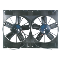 "Dual 11"" 12V Electric Thermo Fans: Race Series 2800CFM"