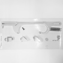 Throttle & Kick Down Cable Bracket Set : suit Holley 4bbl (Silver)