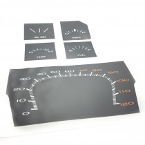 Instrument Face Restoration Decal Package : suit VG Non-Sports Dash (MPH)