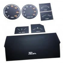 Instrument Face Restoration Decal Package : suit VG Sports Dash (KPH) : Black