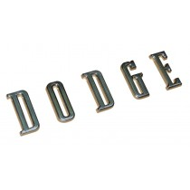 """DODGE"" Letter Badge Set : suit 1966-74 Dodge (hood)"