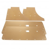 Blank Door Card/Door Trim & Rear Backing Board Set : suit VH/VJ/VK/CL Charger