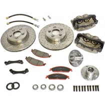 Big Brake Upgrade Kit - 330mm Disc Rotors with Twin Piston Calipers  : suit VG-CM with vented disc brakes fitted