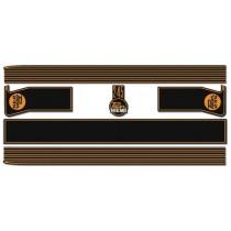 Body Stripe Kit : VG Pager Sedan  A88/A84  (Black & MUSTARD)