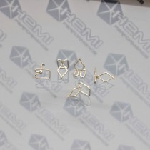 Wire Body Molding Clip set : Stainless Steel 12 or 18 mm
