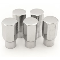 Reproduction Chrome Factory W35 Mag Wheel Nut Set (5x) : 7/16 : Right hand thread