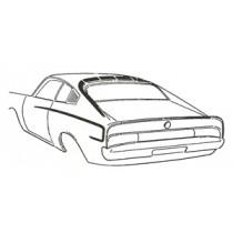 Body Stripe Kit : A54 option code : suit Charger (Colour: Dark Orange)