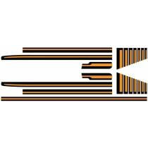 Body Stripe Kit : CL Sportspack Utility ; Black & Orange