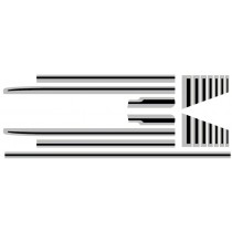 Body Stripe Kit : CL Sportspack Utility : Black & Silver