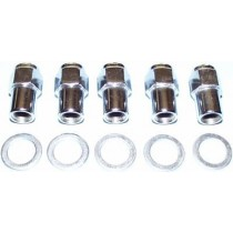 "7/16"" Chrome Mag Wheel Nut and Washer (Left Hand Thread)"