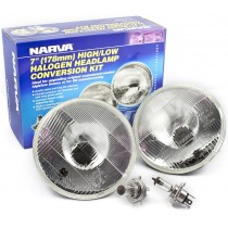 "Narva Halogen Headlamp Conversion Kit : 7"" H4 (178mm - High/Low 60/55w)"