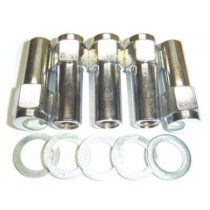 "Chrome Mag Nut and Washer (overlength) : 1/2"" : Right hand thread"
