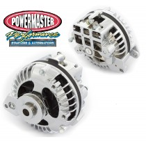 Powermaster 90 AMP Chrome Alternator (Single Pulley)