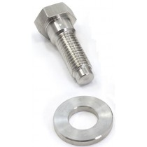 "Reproduction ""K"" frame bolt & washer (stainless steel)"