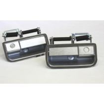 Front Exterior Door Handle Set (brushed alloy fascia) : suit VH