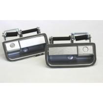 Front Exterior Door Handle Set (brushed alloy fascia) : suit VH