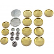 Brass Welch Plug Kit (Block & Gallery) : suit Small Block