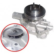 Alloy Water Pump : High volume, enclosed impeller type : Suit Small Block (running thermal clutch drive)