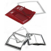 Rear Lens & Bezel Set, Tail Light (with clear) : suit VF/VG Hardtop