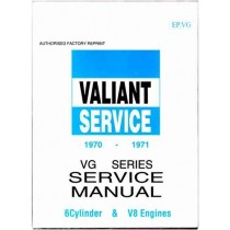 Workshop Service Manual : Valiant 1970-1971 VG