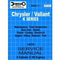 Workshop Service Manual : Valiant 1975 VK (book 1)