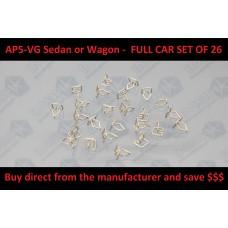Top of door Exterior Mold Fastener Clip Set : Suit AP5 / AP6 / VC / VE / VF / VG Sedan & Wagon Car SET ( 26 pieces )