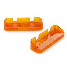 Factory Correct Reproduction Front Indicator Lens Pair : ORANGE : suit VF/VG Hardtop, VC/VE Sedan (HP's New Mold-Injected Lens Range)