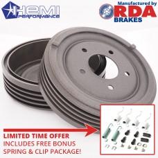 Six Pack Finned Rear Brake Drum Set with bonus springs and clips DSC02663.jpg