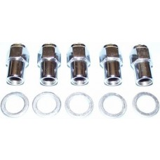 "1/2"" Chrome Mag Wheel Nut and Washer (Right Hand Thread)"