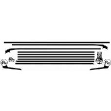 Body Stripe & Decal Kit (suit VG Sedan Pacer : Hockey Stick) - BLACK - NOT OVER Boot